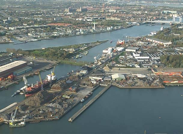 Port of Dordrecht aerial