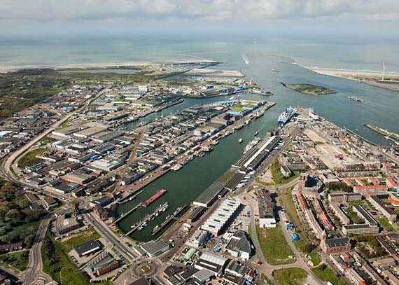 Port of Ijmuiden aerial