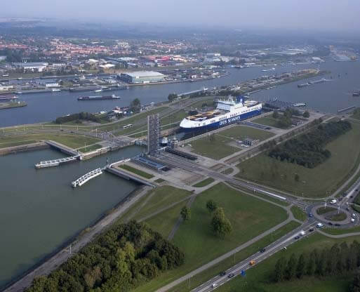 Port of Terneuzen aerial