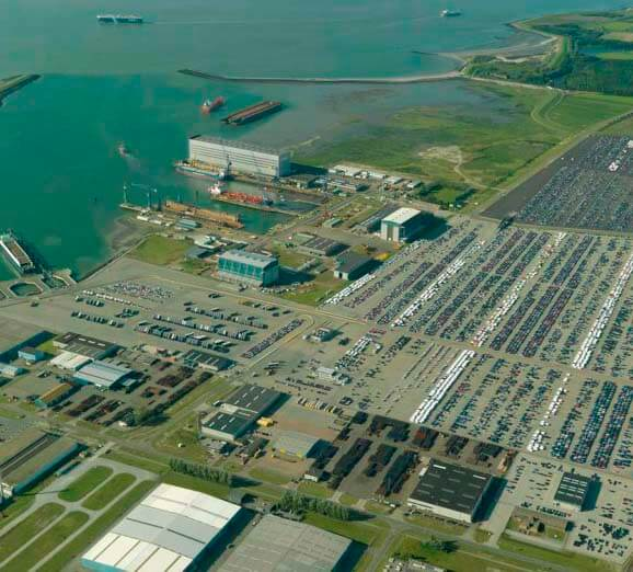 Port of Vlissingen aerial