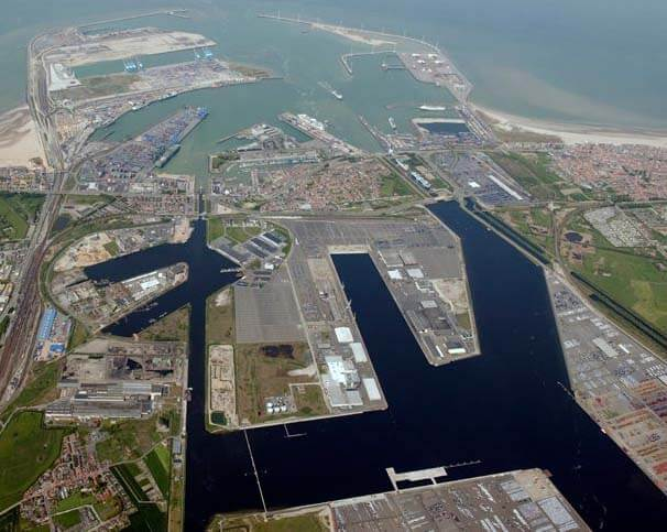Port of Zeebrugge aerial